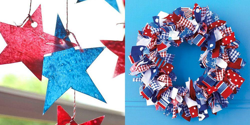 "<p>Everyone loves a <a href=""https://www.womansday.com/food-recipes/g1180/4th-of-july-party-ideas/"" target=""_blank"">4th of July party</a>, and the decor is a huge part of that. Flags, firework, and good old red, white and blue motifs abound! After you've figured out the <a href=""https://www.womansday.com/food-recipes/food-drinks/g2440/4th-of-july-recipes/"" target=""_blank"">menu</a>, <a href=""https://www.womansday.com/food-recipes/food-drinks/recipes/g2442/4th-of-july-drinks/"" target=""_blank"">drinks</a>, and <a href=""https://www.womansday.com/life/g3009/4th-of-july-activities/"" target=""_blank"">activities</a> for your festive day, you also have to think about the <a href=""https://www.womansday.com/home/crafts-projects/g3011/4th-of-july-wreaths/"" target=""_blank"">decorations</a>. But rather than buying the same decorations everyone on the block has, why not make some of your own? These DIY 4th of July crafts will add more character to your party than any store-bought ones can, and they're often cheaper to make yourself anyway! Not only that, but you can have the kids help, which will keep them <a href=""https://www.womansday.com/life/work-money/tips/g1212/summer-activities/"" target=""_blank"">entertained</a> while summer camp is out.  <br> <br>Making these 4th of July craft decorations won't take too much time, so you'll still be able to pull off prep for your patriotic party — we recommend baking one of these <a href=""https://www.womansday.com/food-recipes/food-drinks/g2447/4th-of-july-cake-and-cupcakes/"" target=""_blank"">awesome cakes</a> that are so beautiful, they double as decor! <br></p>"