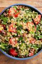 "<p>This Lebanese (or Syrian, depending who you ask 😉) salad is sure to improve whatever it's paired with. Bright, fresh herbs get friendly with sweet tomatoes and a sharp lemon dressing to create the salad equivalent of a breath of fresh air.</p><p>Get the <a href=""http://www.delish.com/uk/cooking/recipes/a29843514/classic-tabouli-salad/"" rel=""nofollow noopener"" target=""_blank"" data-ylk=""slk:Tabbouleh Salad"" class=""link rapid-noclick-resp"">Tabbouleh Salad</a> recipe.</p>"