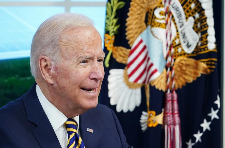 US President Joe Biden will address the UN General Assembly for the first time (AFP/MANDEL NGAN)