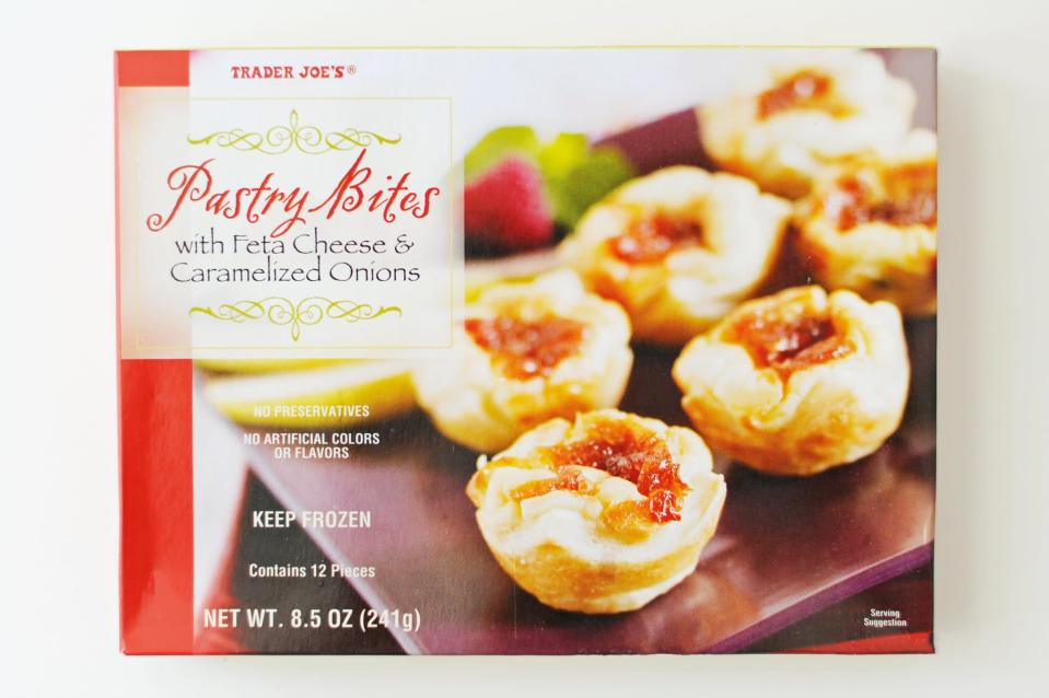 <p>The feta and caramelized onion bites are totally addicting, and they just <em>look</em> like they belong in a spread of appetizers.</p>