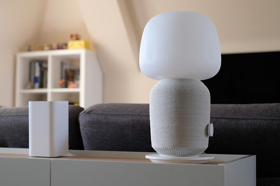 Sonos and IKEA Symfonisk lamp