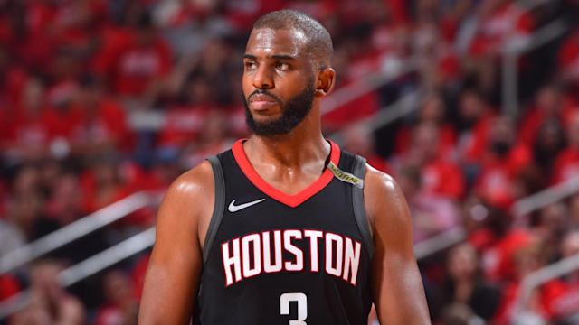 Houston Rockets guard Chris Paul will miss Game 6 of the Western Conference finals with a right hamstring strain, the team announced.