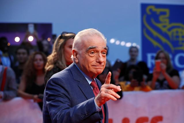 """Martin Scorsese arrives for the gala presentation of the Robbie Robertson biopic """"Once Were Brothers: Robbie Robertson and The Band"""", 2019. REUTERS/Mario Anzuoni"""