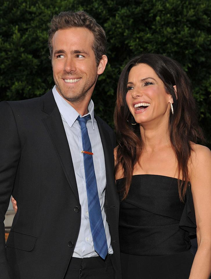 """<a href=""""http://movies.yahoo.com/movie/contributor/1800025139"""">Ryan Reynolds</a> and <a href=""""http://movies.yahoo.com/movie/contributor/1800018970"""">Sandra Bullock</a> at the Los Angeles premiere of <a href=""""http://movies.yahoo.com/movie/1810155680/info"""">The Change-Up</a> on August 1, 2011."""