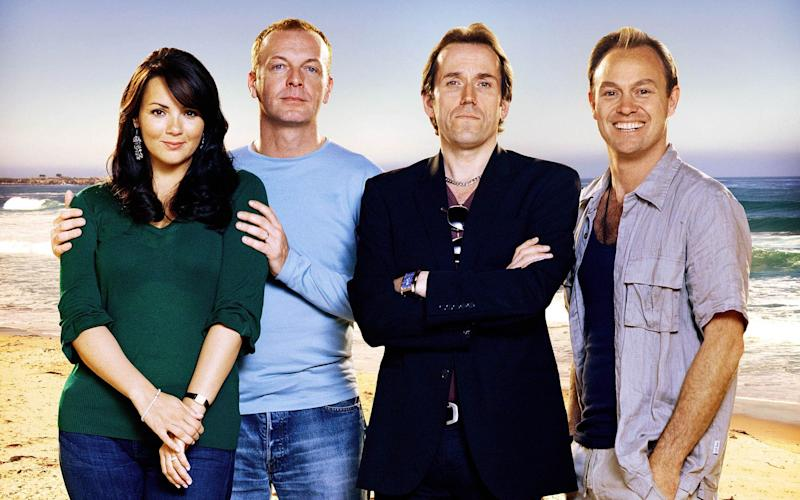 Alongside Hugo Speer, Ben Miller and Jason Donovan in the ITV flop Echo Beach - Credit: Kerry Brown/ITV