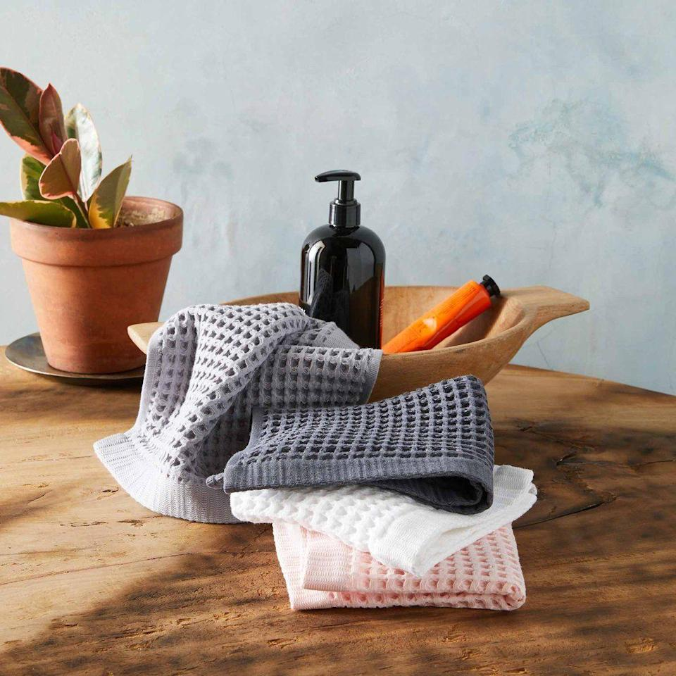 """<p><strong>Brooklinen</strong></p><p>brooklinen.com</p><p><a href=""""https://go.redirectingat.com?id=74968X1596630&url=https%3A%2F%2Fwww.brooklinen.com%2Fproducts%2Fwaffle-washcloths&sref=https%3A%2F%2Fwww.bestproducts.com%2Fhome%2Fg36230872%2Fbrooklinen-birthday-sale-april-2021%2F"""" rel=""""nofollow noopener"""" target=""""_blank"""" data-ylk=""""slk:Shop Now"""" class=""""link rapid-noclick-resp"""">Shop Now</a></p><p><strong>Sale Price: $12</strong></p><p>If you've never owned a waffle-weave towel, do not delay in grabbing this set of two on super sale. Comprising a very lightweight but cushy 350 GSM, this stretchy material feels incredible for dabbing your face dry after you wash it morning and night.</p><p>They come in four colors and are also available as bath towels, bath sheets, hand towels, or in <a href=""""https://go.redirectingat.com?id=74968X1596630&url=https%3A%2F%2Fwww.brooklinen.com%2Fproducts%2Fwaffle-towel-move-in-bundle%3Fcolor1%3Dflamingo&sref=https%3A%2F%2Fwww.bestproducts.com%2Fhome%2Fg36230872%2Fbrooklinen-birthday-sale-april-2021%2F"""" rel=""""nofollow noopener"""" target=""""_blank"""" data-ylk=""""slk:a full set"""" class=""""link rapid-noclick-resp"""">a full set</a> that includes all sizes.</p>"""