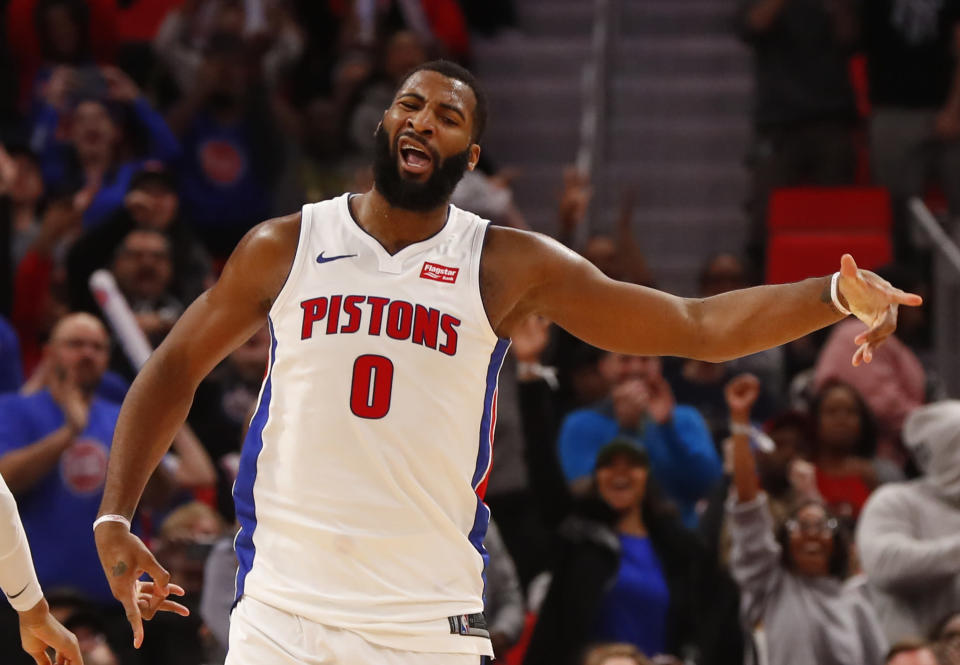 Andre Drummond was angry after he was snubbed for an All-Star spot. (AP Photo)
