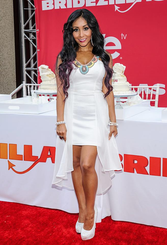 Nicole 'Snooki' Polizzi hosts 'Bridezillas' Wedding Cake Eating Contest at Madison Square Garden in New York City