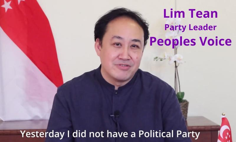 Lim Tean said that his party has done away with the