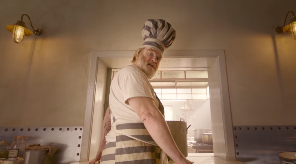 Brendan Gleeson plays the fearsome prison cook Knuckles McGinty. (Studiocanal)