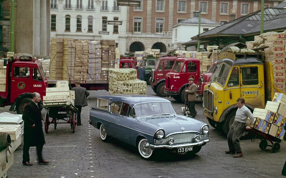 1960 Vauxhall Cresta Friary estate in Covent Garden fruit market. Creator: Unknown. (Photo by National Motor Museum/Heritage Images via Getty Images) - Getty
