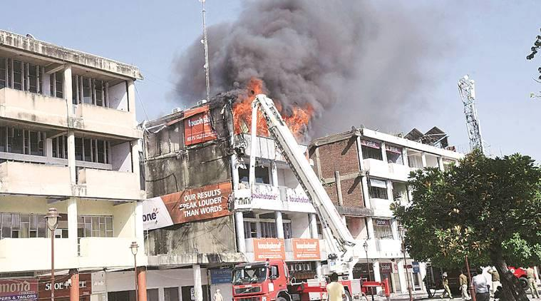 Sector 17, Chandigarh: Fire breaks out at IELTS coaching centre