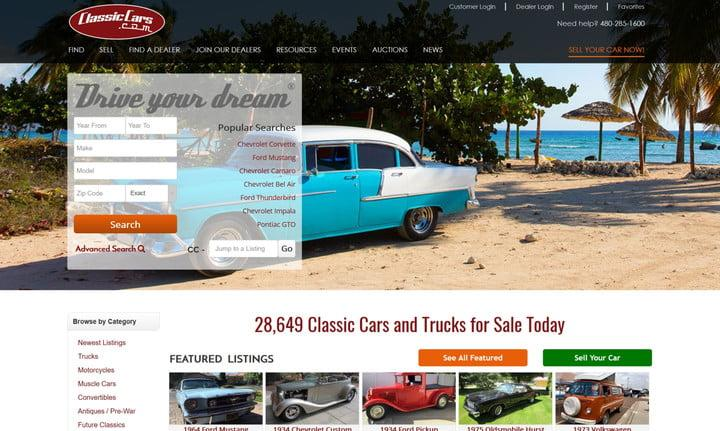 Need A New Ride Here Are The Best Used Car Sites On The Web - Classic car websites