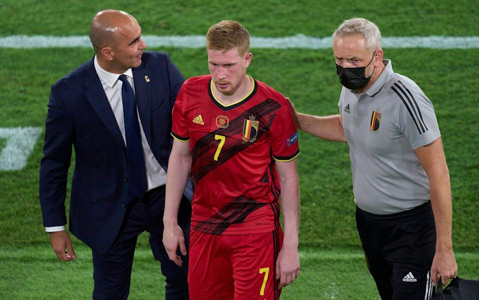 De Bruyne left the pitch looking dejected in Belgium's win over Portugal - GETTY IMAGES