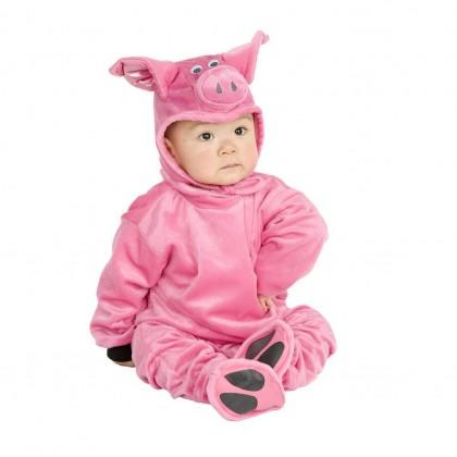 """<div class=""""caption-credit""""> Photo by: Rakuten.com</div><div class=""""caption-title"""">Little Pig</div>Not even a big bad wolf could resist the charms of a baby dressed in this pink, <a rel=""""nofollow"""" href=""""http://www.rakuten.com/prod/micro-fiber-fleece-little-pig-halloween-costume-newborn/209214358.html"""" target=""""_blank"""">microfiber jumpsuit</a>. Sizes: Newborn to 4T Price: $23.95"""