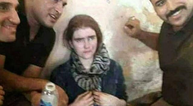 PICTURED: Linda Wenzel after her capture by Iraqi forces in Mosul, Iraq. Source: AAP