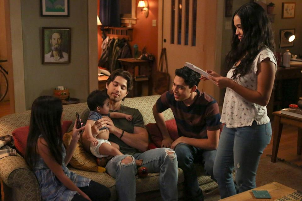 """<p>Unlike how the '90s family drama followed siblings dealing with their parents dying after a tragic car accident, Freeform's reboot of <strong>Party of Five</strong> utilized a more timely tragedy: the Acostas' parents are deported back to Mexico for being undocumented, leading to a distressing split with their five children. The series received praise from critics, but its low viewership led to its <a href=""""https://deadline.com/2020/04/party-of-five-reboot-canceled-freeform-one-season-series-1202910922/"""" class=""""link rapid-noclick-resp"""" rel=""""nofollow noopener"""" target=""""_blank"""" data-ylk=""""slk:cancellation in April"""">cancellation in April</a>. It sucked, because the series <a href=""""https://www.popsugar.com/latina/7-things-youll-see-on-freeform-party-five-47088847"""" class=""""link rapid-noclick-resp"""" rel=""""nofollow noopener"""" target=""""_blank"""" data-ylk=""""slk:gave viewers a perspective on timely issues"""">gave viewers a perspective on timely issues</a> that they couldn't get from any other show on air right now. There are no Latinx-led series on primetime TV anymore, and this cancellation emphasizes how necessary those stories are in media.</p>"""