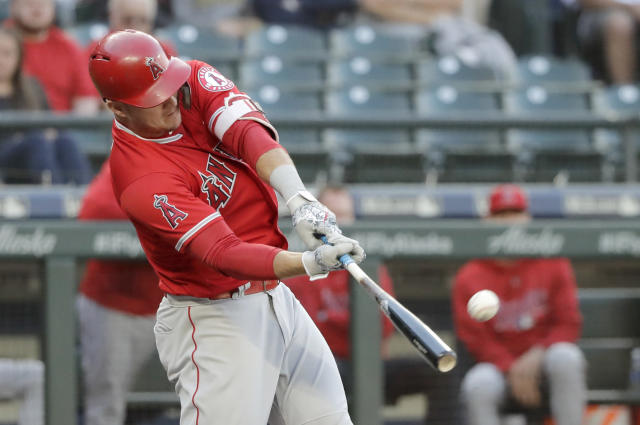 Mike Trout is off to the best start of his career. (AP Photo/Ted S. Warren)