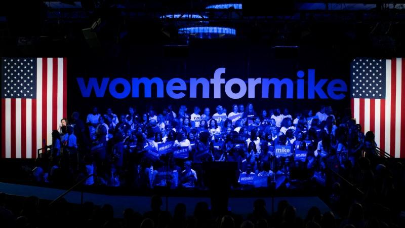 "Women attend the campaign event ""Women for Mike"" by Democratic U.S. presidential candidate Bloomberg in the Manhattan borough of New York City, New York"