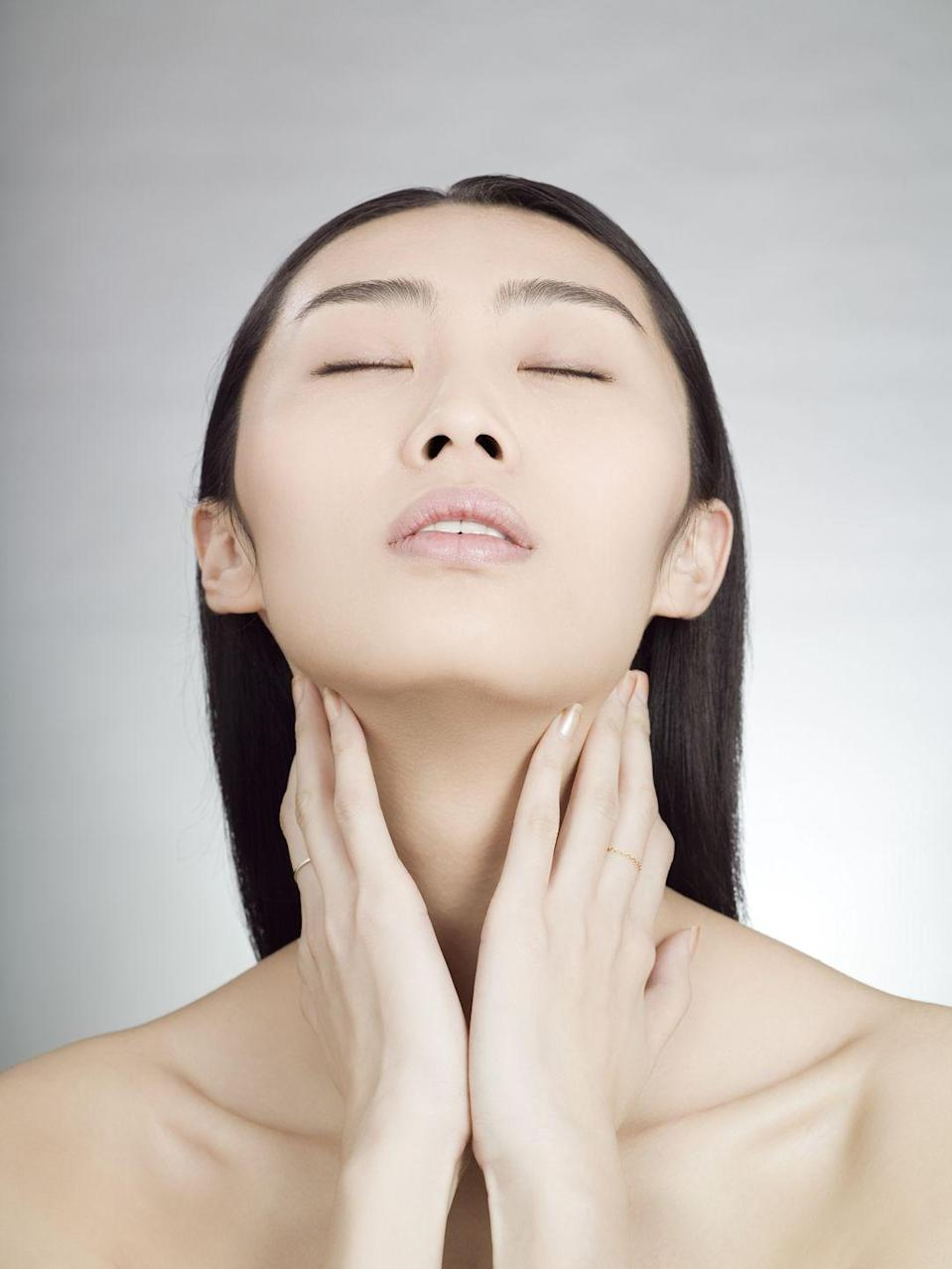 """<p>You shouldn't be able to see your thyroid from the outside, so a lump that appears in the lower part of your neck or slightly off to one side could be a thyroid mass. """"You might see it move up and down when you swallow,"""" says Erich P. Voigt, M.D., director of the division of general and sleep otolaryngology at NYU Langone Health. Most are benign (meaning you don't have cancer), but a large one, called a goiter, may eventually make it hard to swallow or breathe. Depending on the size, your doctor may advise a watch-and-wait approach, prescribe medication or (in certain cases) recommend surgery.</p>"""