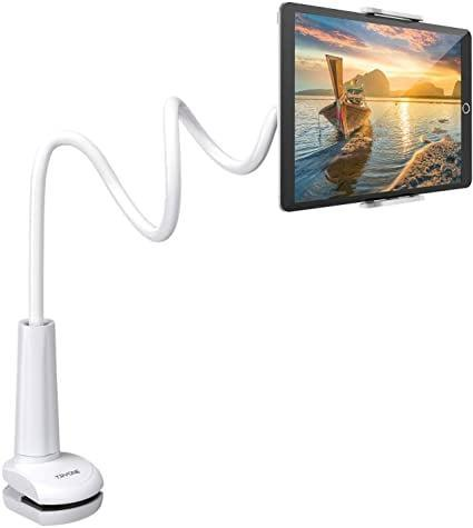 <p>Here's the <span>Tryone Gooseneck Mount Holder/Stand Compatible with Tablets and Phones (27.5-inch)</span> ($22) in white.</p>