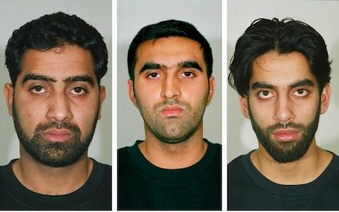 Terrorists (left to right) Waheed Mahmood, Omar Khyam and Jawad Akbar, who plotted to blow up Bluewater shopping centre
