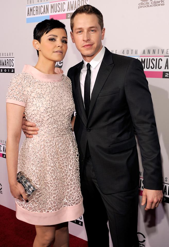 LOS ANGELES, CA - NOVEMBER 18:  (L-R) Actors Ginnifer Goodwin and Josh Dallas attend the 40th American Music Awards held at Nokia Theatre L.A. Live on November 18, 2012 in Los Angeles, California.  (Photo by Kevin Mazur/AMA2012/WireImage)