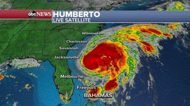 PHOTO: Hurricane Humberto is heading toward Bermuda but is not expected to make a direct hit. (ABC News)