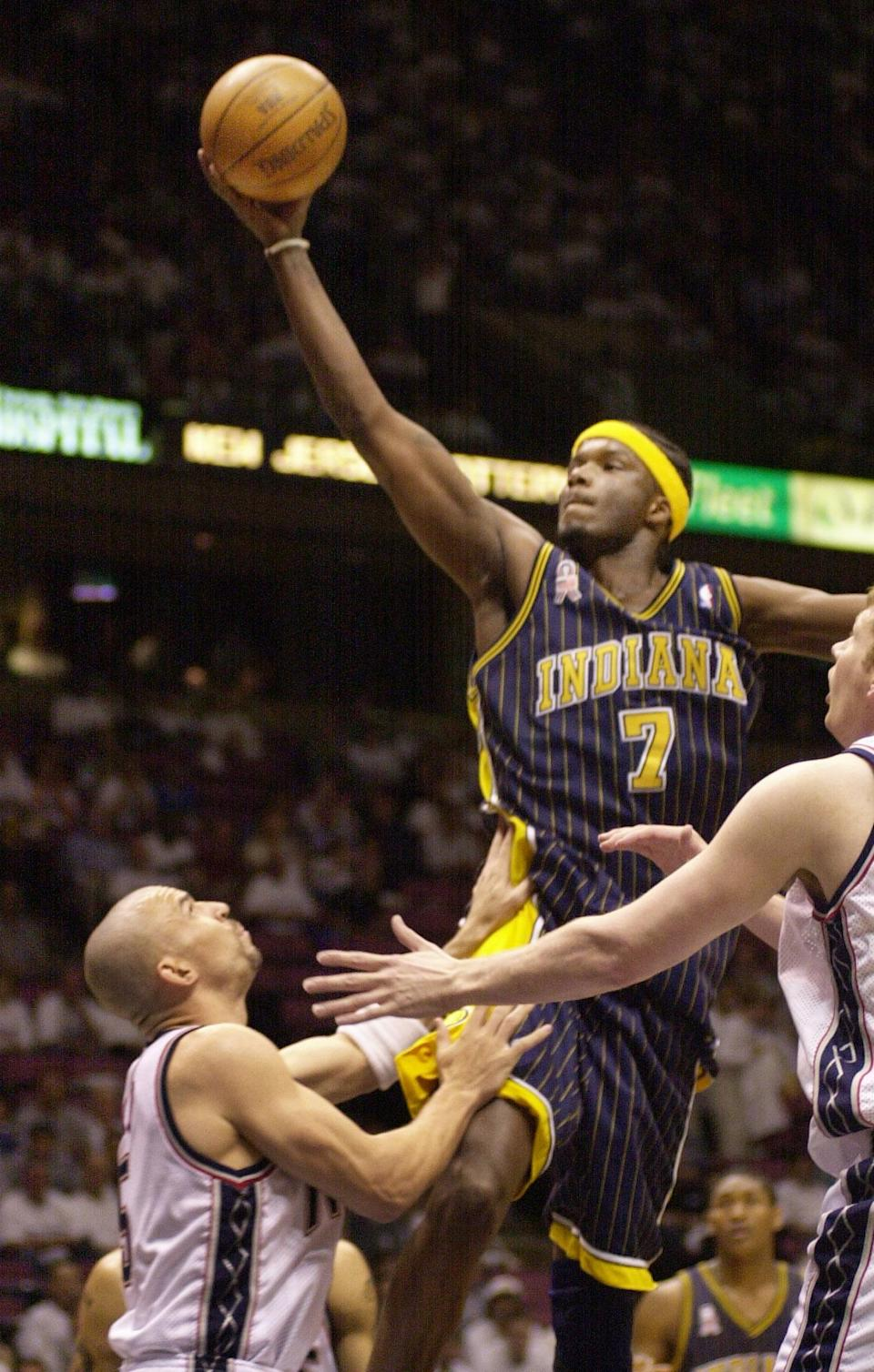 <p>Jermaine O'Neal skipped college and was selected by the Portland Trail Blazers with the 17th overall pick. Since O'Neal is from South Carolina, it would make sense that he might have attended South Carolina to play college hoops. </p>