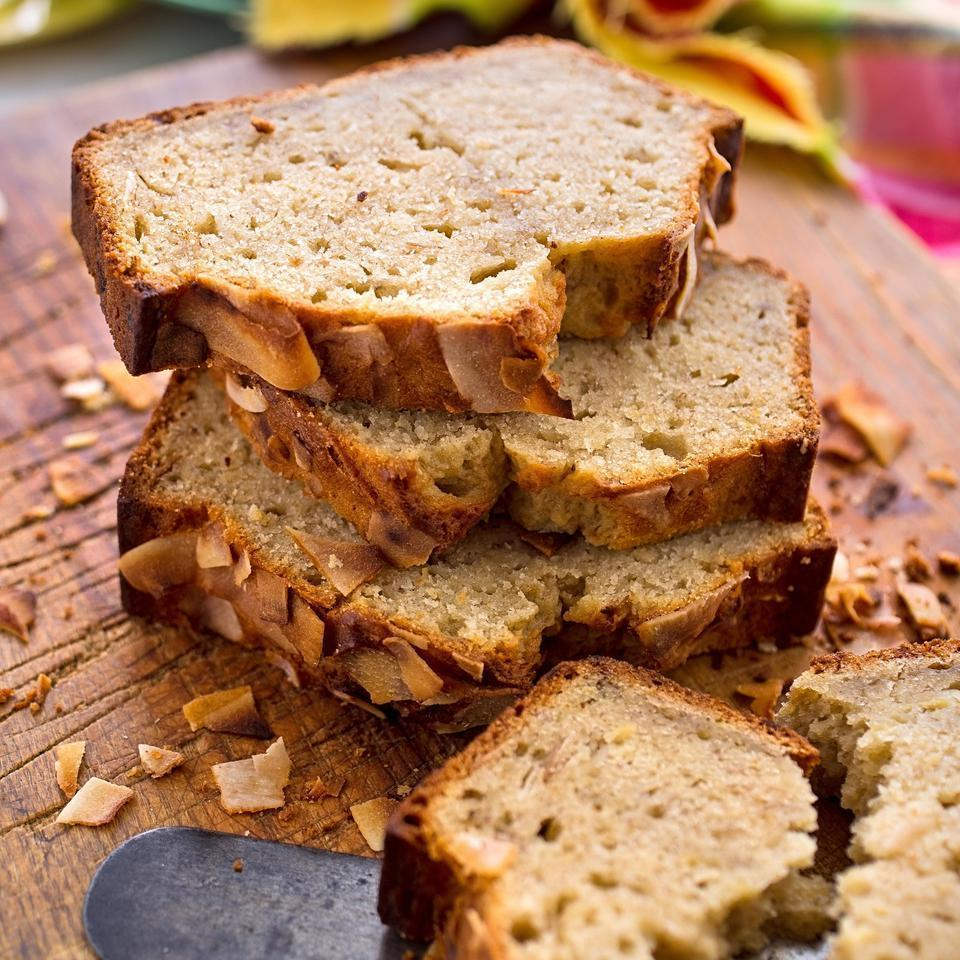 <p>In this island-inspired whole-wheat banana bread recipe, coconut, brown sugar and ginger come together for a wonderful twist to make this our new favorite healthy quick bread.</p>