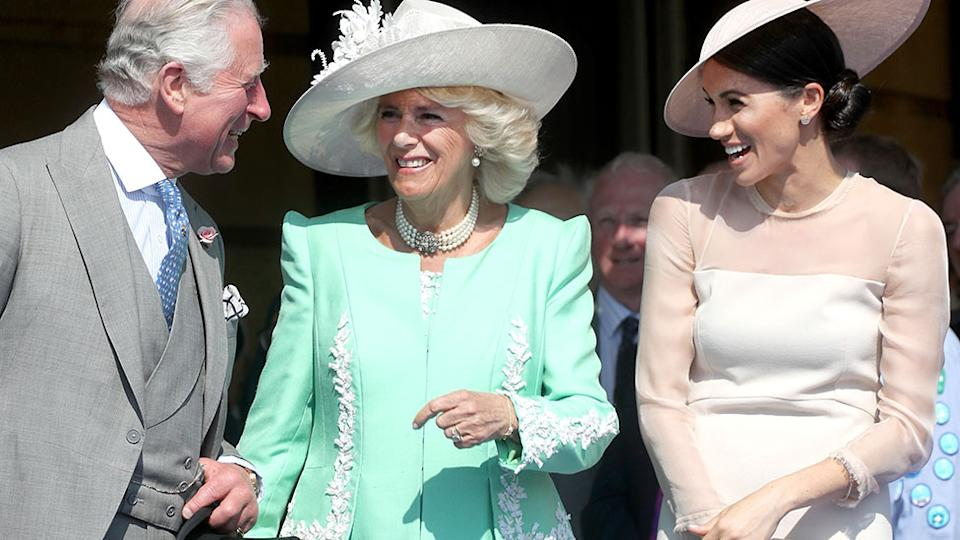 Prince Charles, Camilla and Meghan Markle share a joke