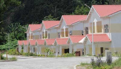 Bellevue Chopin housing project, part of Dominica's Housing Revolution which aims to build over 5,000 hurricane-resistant homes for displaced communities post Erika and Maria, fully sponsored by the island's Citizenship by Investment Programme (PRNewsfoto/CS Global Partners)