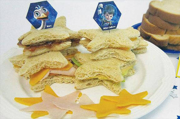 """""""Superstellar Sammies"""" are among the space party snacks included in the Yuri's Night """"Miles from Tomorrowland"""" kit."""