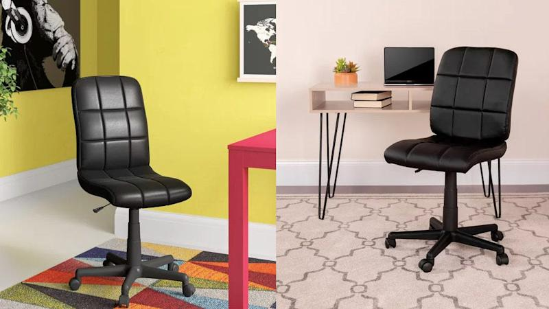 A simple chair for your temporary workspace.
