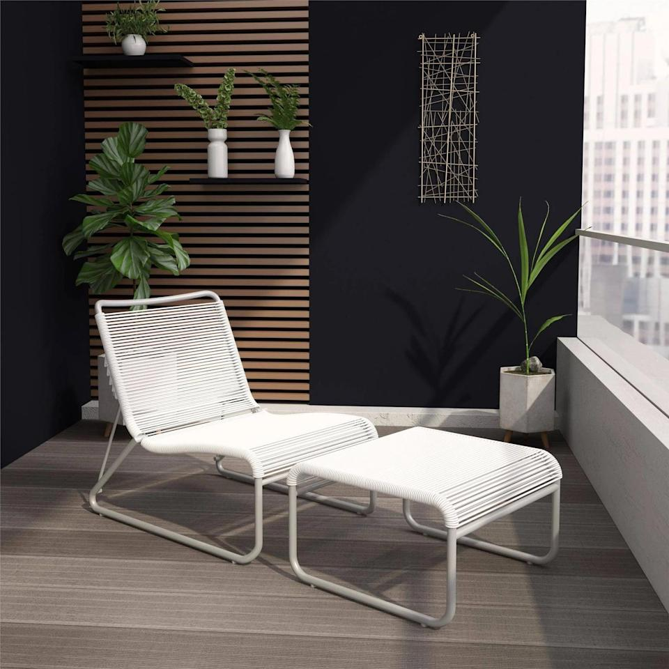 <p>The <span>Lita Patio Lounge and Ottoman Set</span> ($360) has four different lounging positions that are perfect for an afternoon nap.</p>