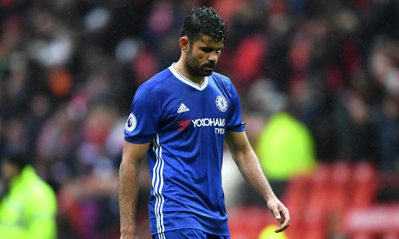 Diego Costa felt unwell ahead of Chelsea's match against Manchester United and subsequently made little impact for the leaders at Old Trafford