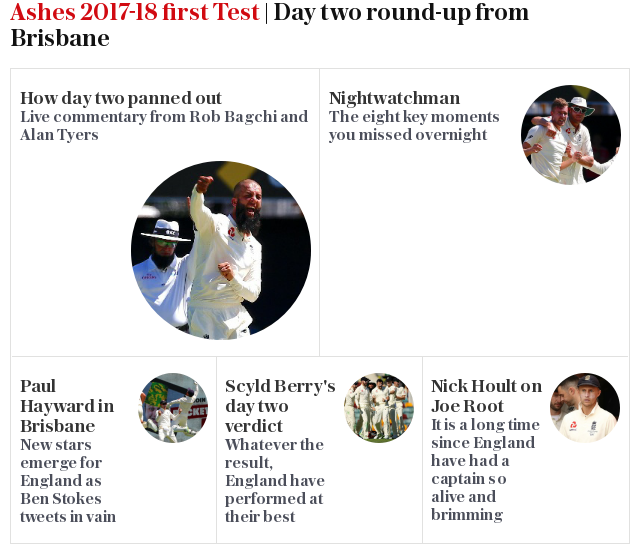 Ashes 2017-18 first Test | Day two round-up from Brisbane