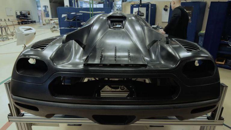 """<p>The Koenigsegg factory <a rel=""""nofollow"""" href=""""https://www.roadandtrack.com/car-culture/entertainment/a28460/apex-the-story-of-the-hypercar-review/"""">is built on the remains of a Swedish air force base</a>, using a hangar to house its manufacturing facility and the adjacent runway to conduct high-speed testing. The small team uses advanced tech to construct its carbon-bodied cars, and 3D printing to create otherwise difficult-to-manufacture items. </p>"""