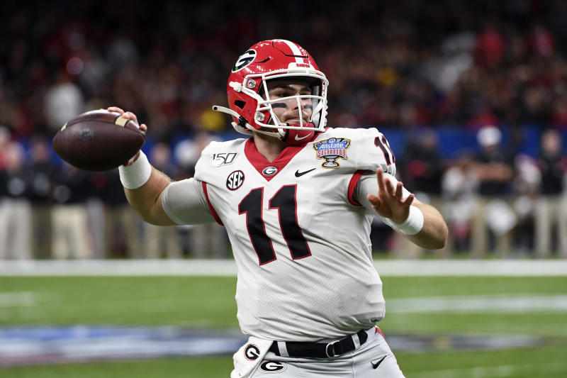 Georgia quarterback Jake Fromm (11) is heading to the NFL. (AP Photo/Bill Feig)