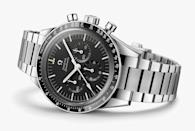 """<p>You could fill a book with all the different versions of the iconic Speedmaster Omega has released – indeed, people have – but this was the one fans have been waiting for. A stainless steel Speedy packing the 321 movement – the same movement in the original 'Moonwatch' that accompanied six Apollo missions. Reconstructed from a 3D scan of astronaut Gene Cernan's own Omega, this is a close as you're going to come to the real thing. Sure, it's three times the cost of a regular Speedmaster, but it's at least three times as cool.</p><p>£11,950; <a href=""""https://www.omegawatches.com/en-gb/"""" rel=""""nofollow noopener"""" target=""""_blank"""" data-ylk=""""slk:omegawatches.com"""" class=""""link rapid-noclick-resp"""">omegawatches.com</a></p>"""