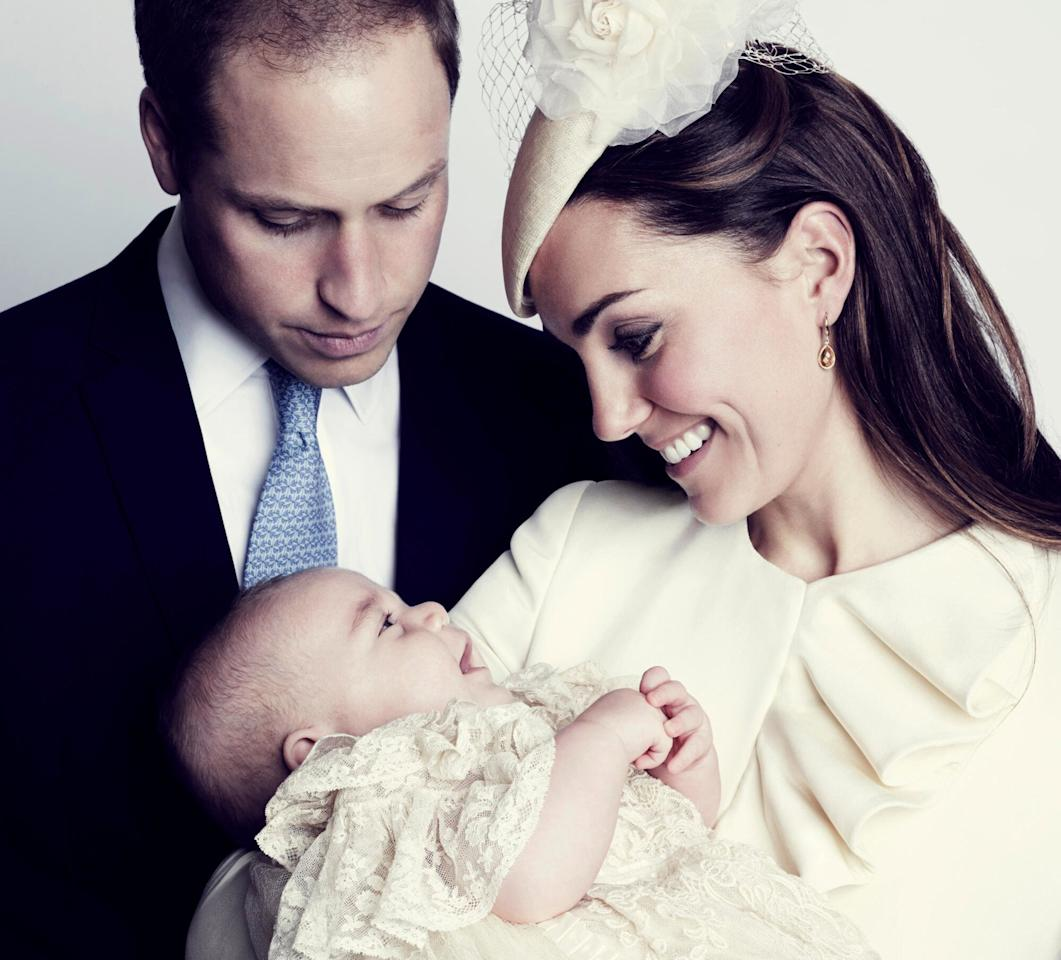 An heir is born! Kate and William became parents to Prince George, who instantly became third in line to the throne behind his father, in July 2013.