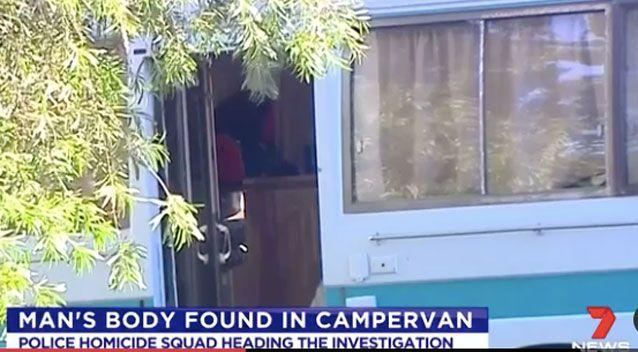 The body of a man has been found in a campervan. Photo: 7 News