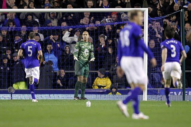 Howard chose not to celebrate his goal for Everton against Bolton in 2012