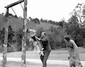 <p>The Duke of Edinburgh had his hands full keeping the lively Princess Anne and Prince Charles entertained as Queen Elizabeth looked on in 1955 at Balmoral Castle. Photo: Getty Images.</p>
