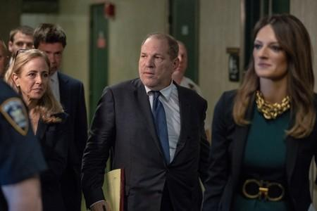 Film producer Harvey Weinstein departs following a hearing in New York State Supreme Court in the Manhattan borough of New York