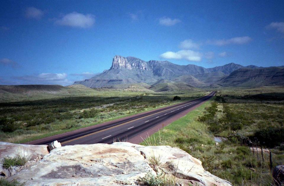 """<p><strong>The Drive: </strong>The Lonesome Highway</p><p><strong>The Scene: </strong>Leading up to the <a href=""""https://www.tripadvisor.com/Tourism-g143032-Guadalupe_Mountains_National_Park_Texas-Vacations.html"""" rel=""""nofollow noopener"""" target=""""_blank"""" data-ylk=""""slk:Guadalupe Mountains"""" class=""""link rapid-noclick-resp"""">Guadalupe Mountains</a>, this road lives up to its name since you probably won't see many cars on the road with you. Travel west on Highway 285 to Highway 180 as you get closer to the beautiful mountains. </p><p><strong>The Pit-Stop: </strong>Stay overnight at <a href=""""https://www.tripadvisor.com/Hotel_Review-g143032-d208470-Reviews-Pine_Springs_Campground-Guadalupe_Mountains_National_Park_Texas.html"""" rel=""""nofollow noopener"""" target=""""_blank"""" data-ylk=""""slk:Pine Springs Campground"""" class=""""link rapid-noclick-resp"""">Pine Springs Campground</a>. It can be your base camp as you spending your days hiking and exploring the area!</p>"""