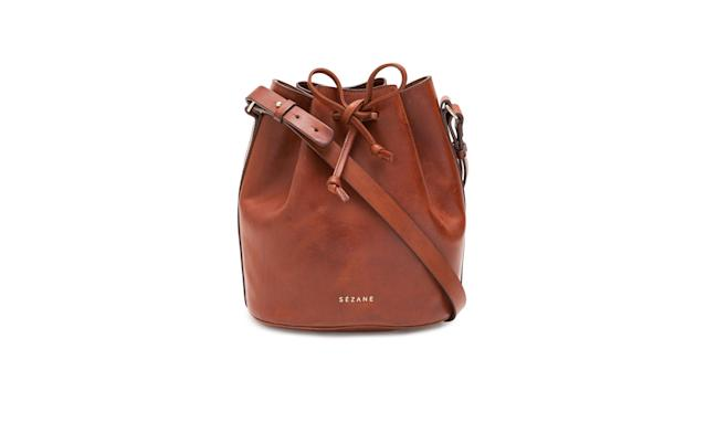 "<p>Farrow Bag, $280, <a href=""http://www.sezane.com/us/product/winter-collection/farrow-bag"" rel=""nofollow noopener"" target=""_blank"" data-ylk=""slk:sezane.com"" class=""link rapid-noclick-resp""> sezane.com</a> </p>"