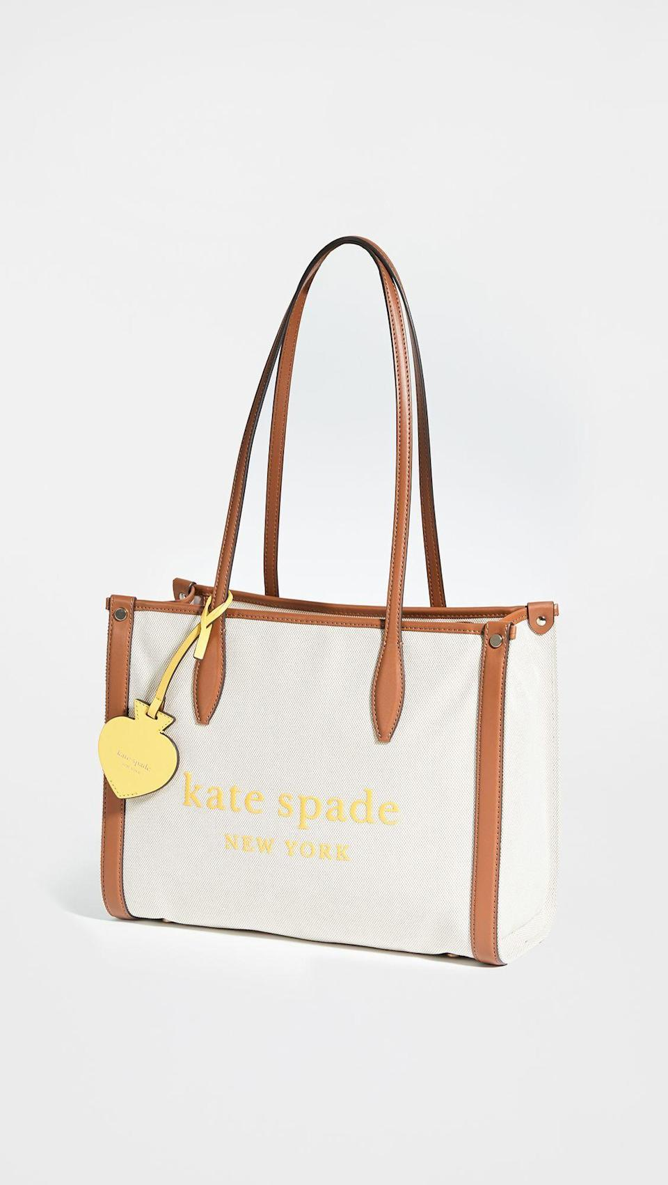 """<p><strong>Kate Spade New York</strong></p><p>shopbop.com</p><p><strong>$158.00</strong></p><p><a href=""""https://go.redirectingat.com?id=74968X1596630&url=https%3A%2F%2Fwww.shopbop.com%2Fmedium-market-tote-kate-spade%2Fvp%2Fv%3D1%2F1531087106.htm&sref=https%3A%2F%2Fwww.cosmopolitan.com%2Fstyle-beauty%2Ffashion%2Fg32868849%2Fbest-teacher-gifts%2F"""" rel=""""nofollow noopener"""" target=""""_blank"""" data-ylk=""""slk:Shop Now"""" class=""""link rapid-noclick-resp"""">Shop Now</a></p><p>Here's a stylish way for them to carry around all of those papers that need grading.</p>"""