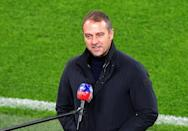 Hansi Flick will oversee his 50th game in charge of Bayern Munich against Werder Bremen on Saturday