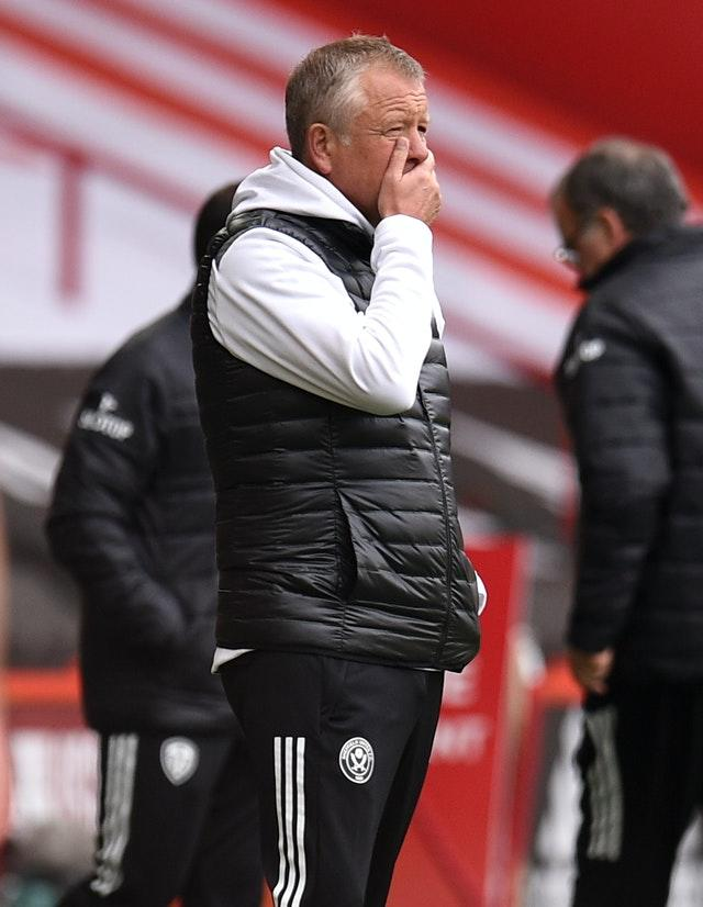 Chris Wilder's Sheffield United have no points and are yet to score after three games (Oli Scarff/PA).
